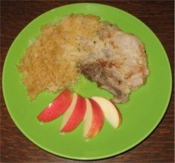 Porkchop with sauerkraut recipe