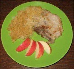 Porkchop with sauerkraut recipe