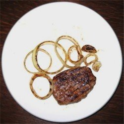Grilled Steak and Onions