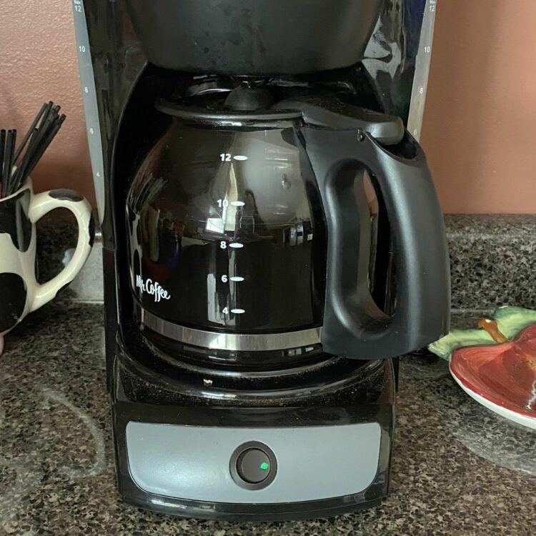 Coffee pot on countertop