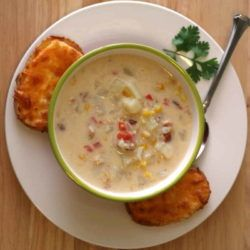My favorite Corn Chowder recipe {with bacon}