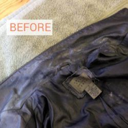 You may think you have to take leather or fake leather clothing to a professional cleaner, but that's not true. Most leather cleaning can be done at home with a product you may already have on hand.
