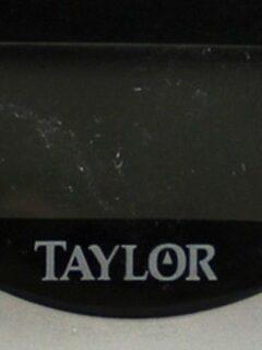 Coseup of Taylor bathroom scales