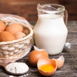 This homemade egg substitute recipe is cholesterol free. It's also free of preservatives and other chemicals you'll find in grocery store egg substitutes. Use it to make mayonnaise or bake or just about anything else you would do with eggs.