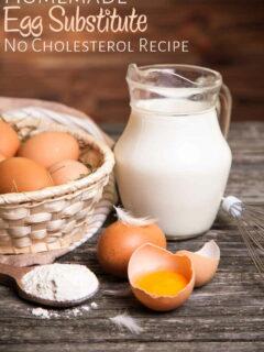 Eggs and milk jug on table