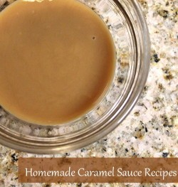 Make your own caramel sauce