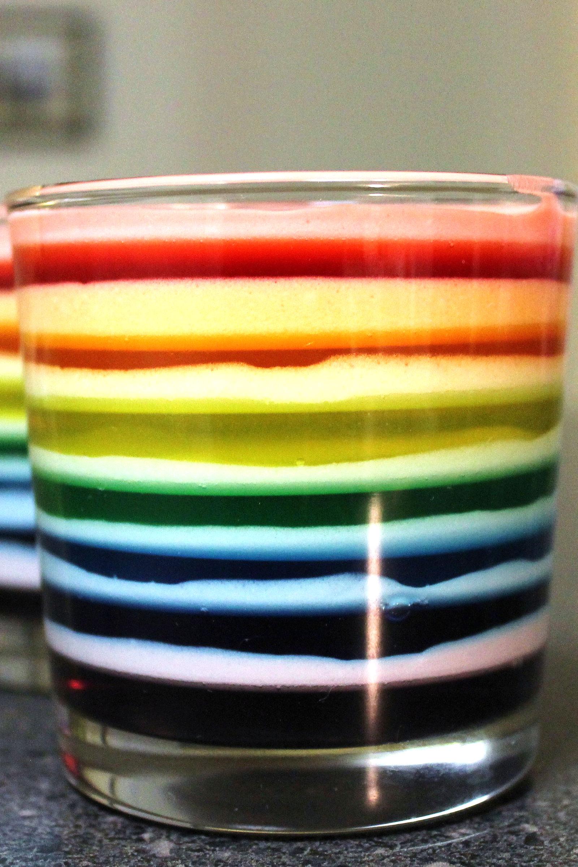 Collage of rainbow jello recipes