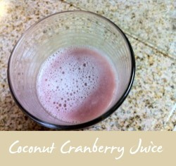 Coconut Cranberry juice