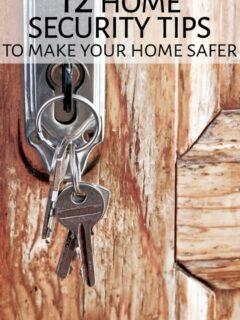 Keys hanging in lock on front door