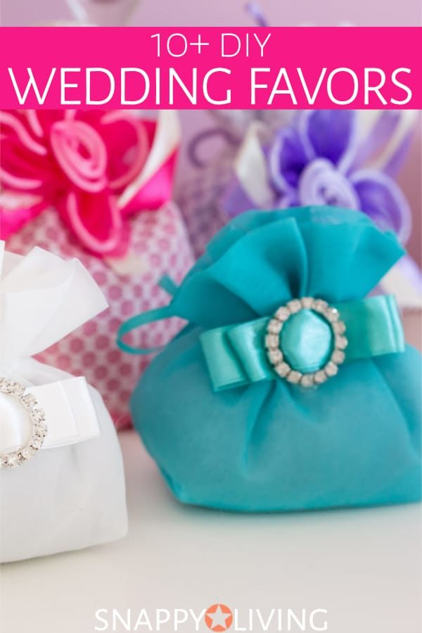 DIY wedding favor bags with beaded closures