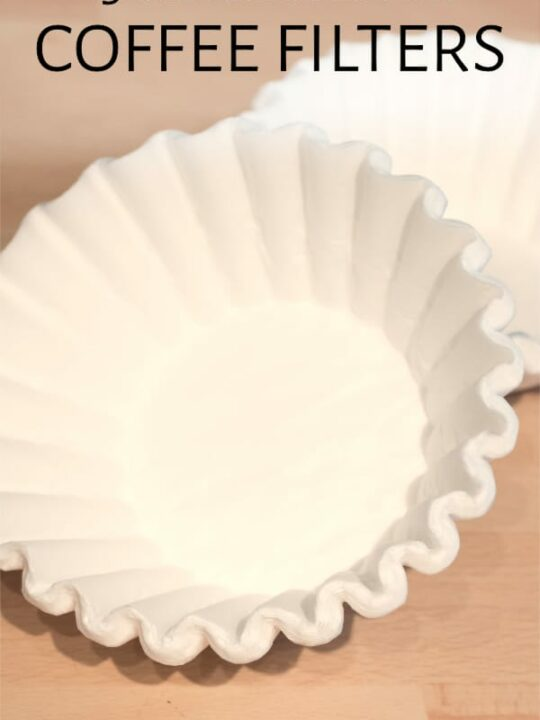 Coffee filters on table
