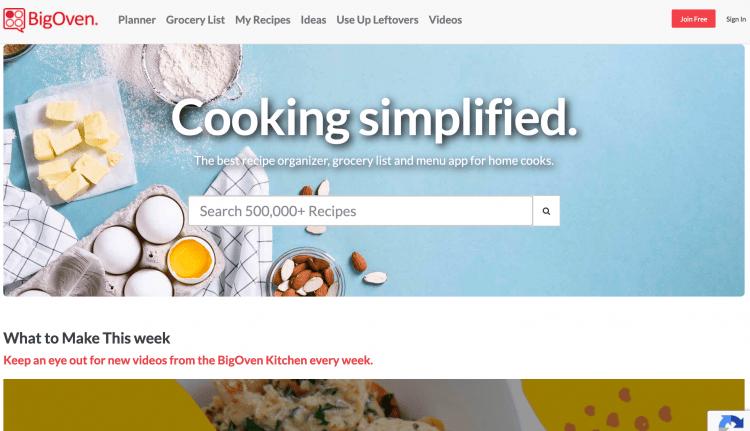 Big Oven homepage