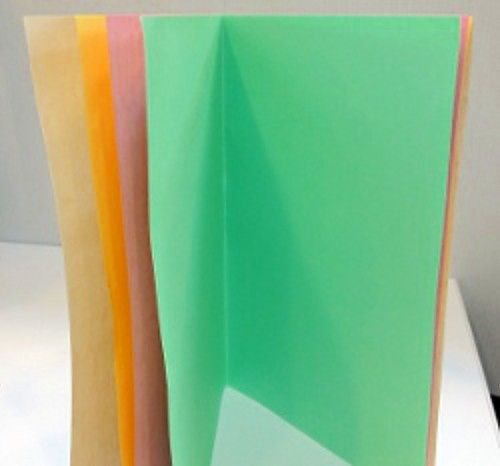 Simple example of a book template for kids with colored paper