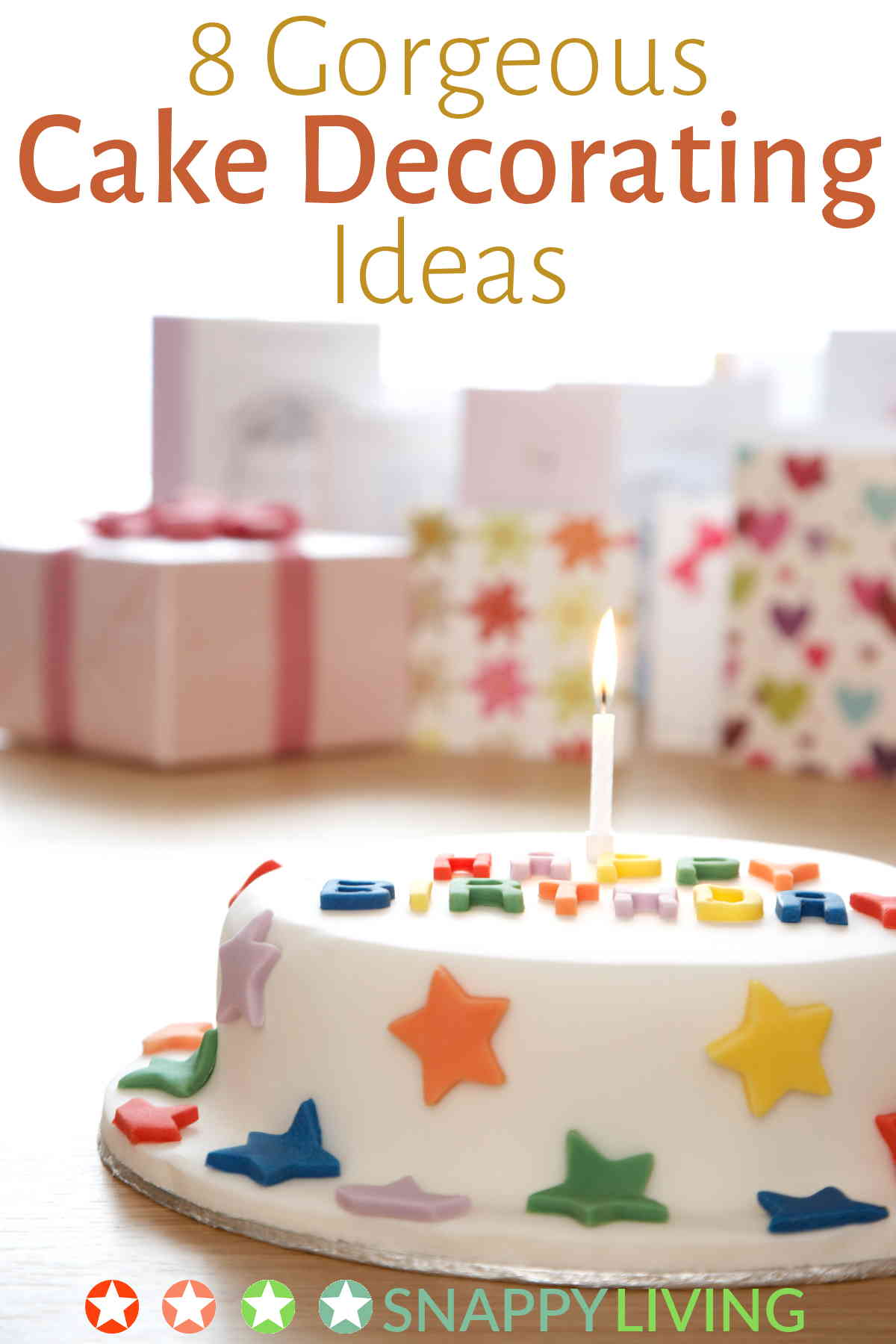 Cake decorated with stars