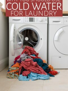 Dryer with door open and clothes spilling out