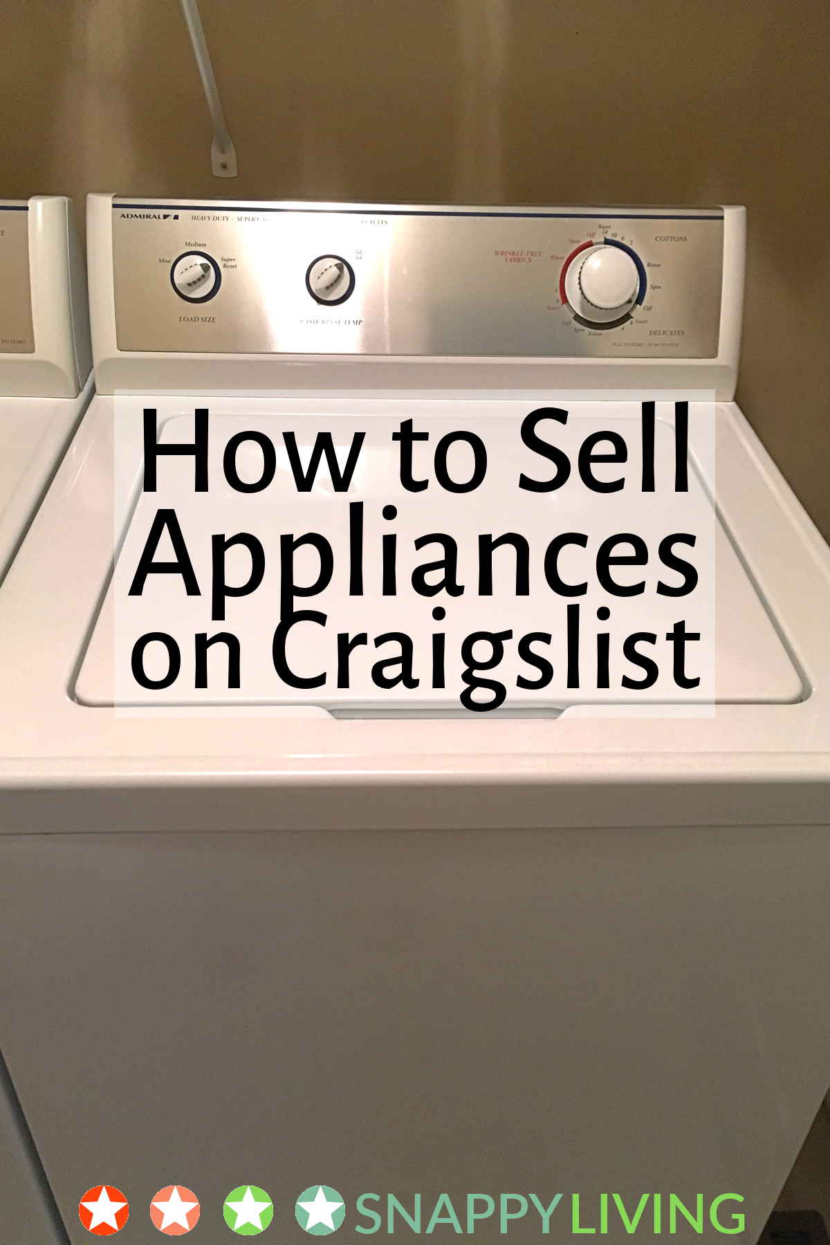 Craigslist applicance for sale page open on a computer monitor
