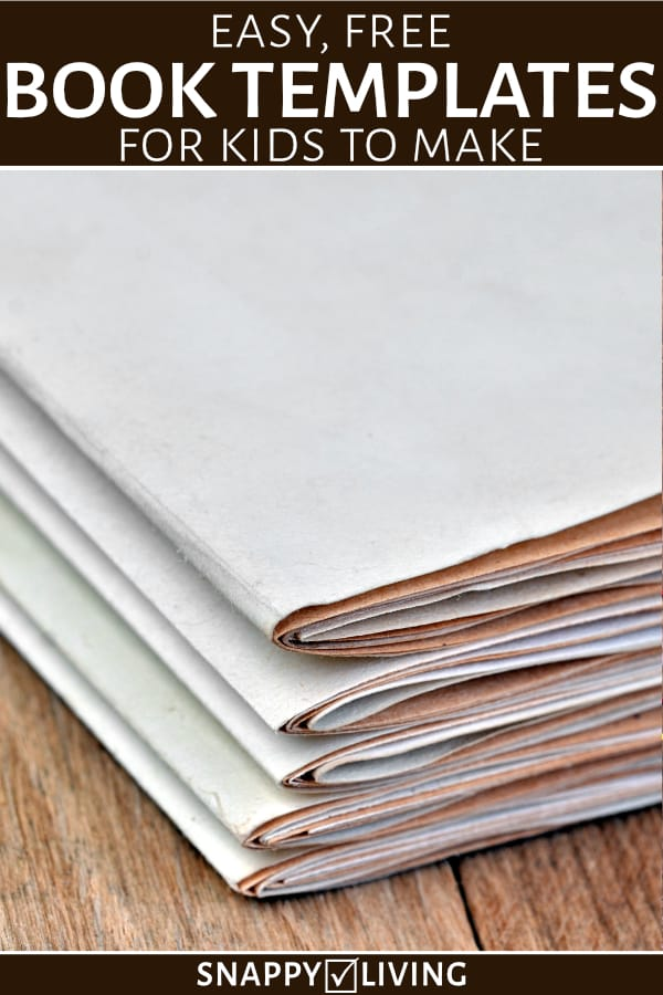 Bookmaking templates stacked on table