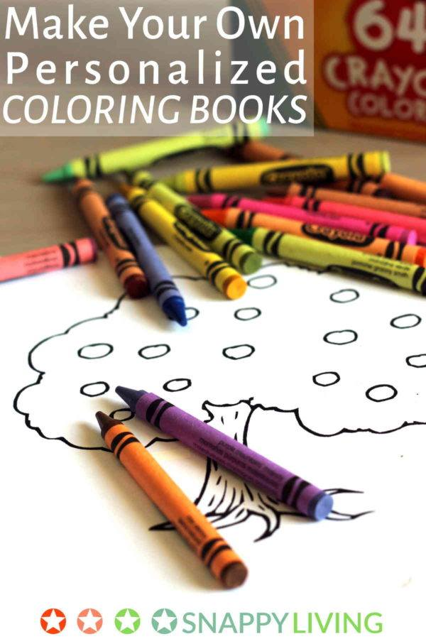 Make Your Own Personalized Coloring Books Snappy Living
