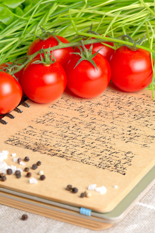 Notebook of handwritten recipes