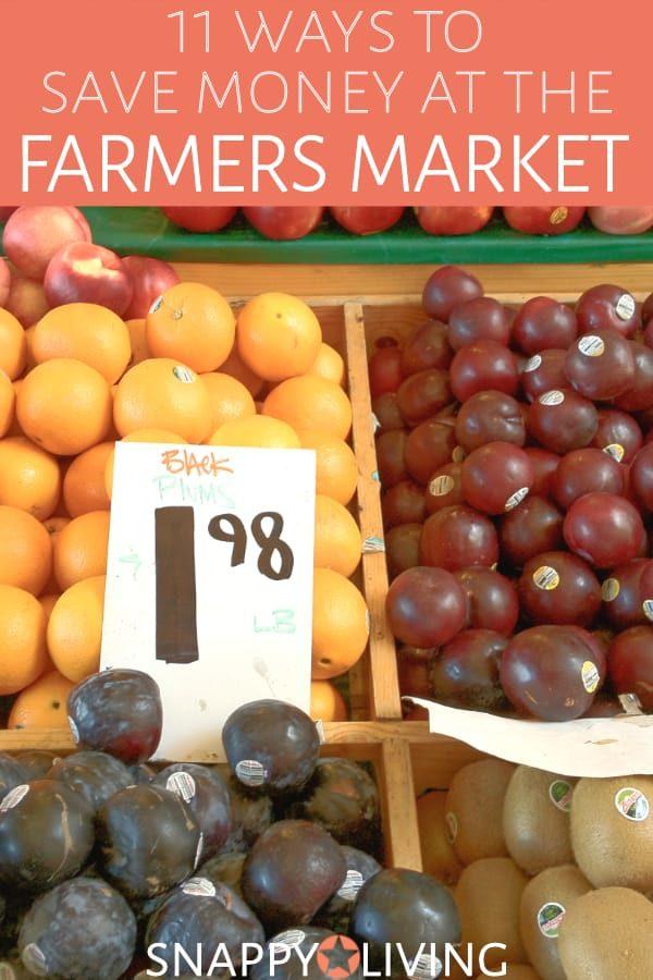 Fruits in bin at farmers market