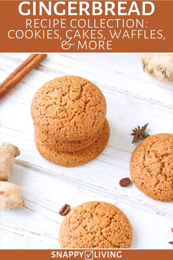Gingerbread cookies on a table with spices