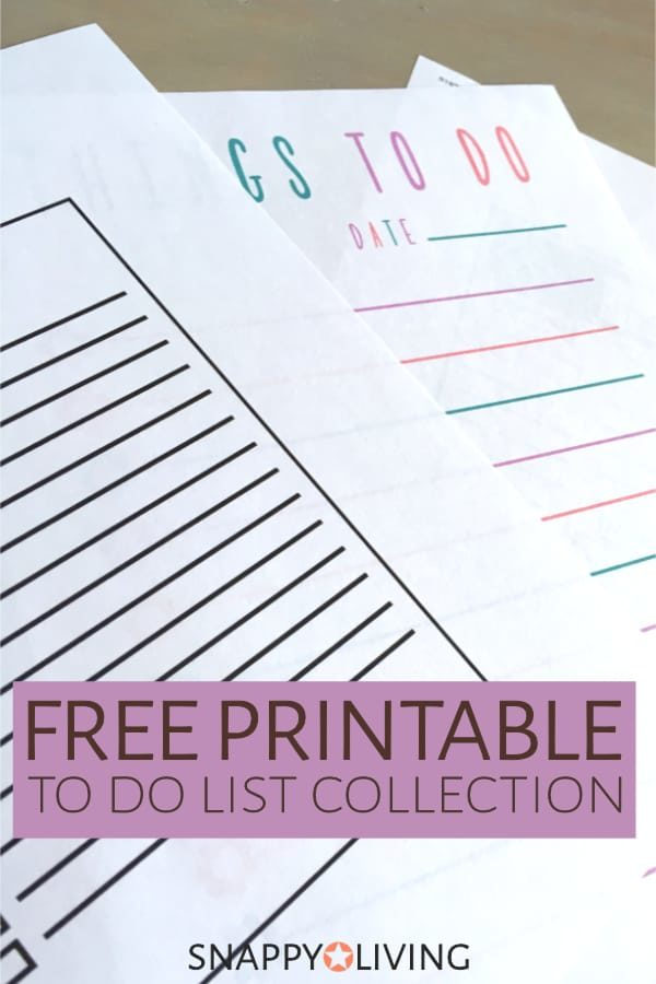 photo about Cute Printable to Do List named Free of charge Printable In direction of Do Checklist Selection Snappy Dwelling