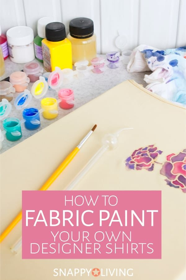 Fabric painting is a very easy craft to learn on your own. You don't even need any particular drawing/painting talent. It's a really fun way to personalize clothing. #crafting #crafts #painting #design