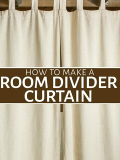 Room divder curtain hanging from rod