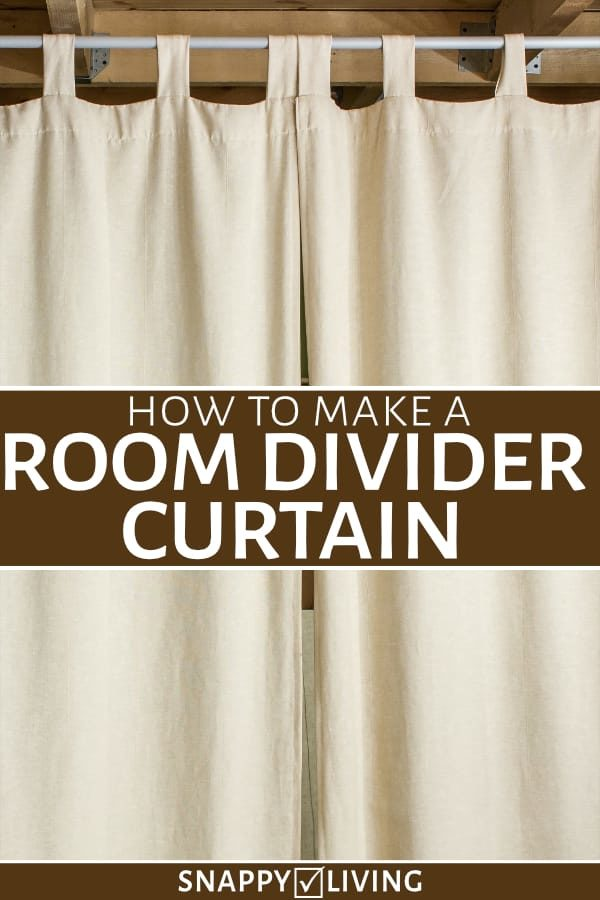 How To Make A Room Divider Curtain, How To Put Curtains On A Tension Rod