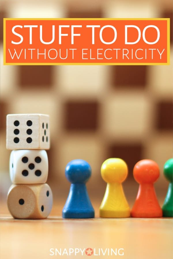 There's no need to be bored because of a power outage. In fact, there's so much stuff to do without electricity that you might just want to take a break from it for fun. #activities #boardgames #cardgames