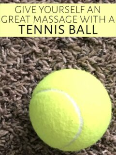 Tennis ball on carpet