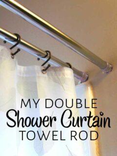 Double shower curtain rod
