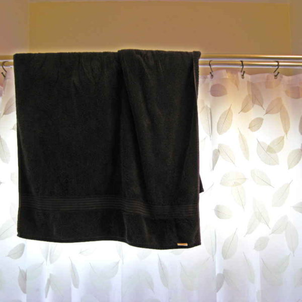 My Double Shower Curtain Rod | DIY | small bathroom organization | how to | towel rods