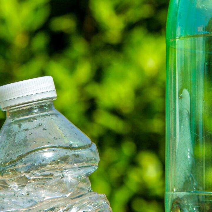 Old soda bottles outside