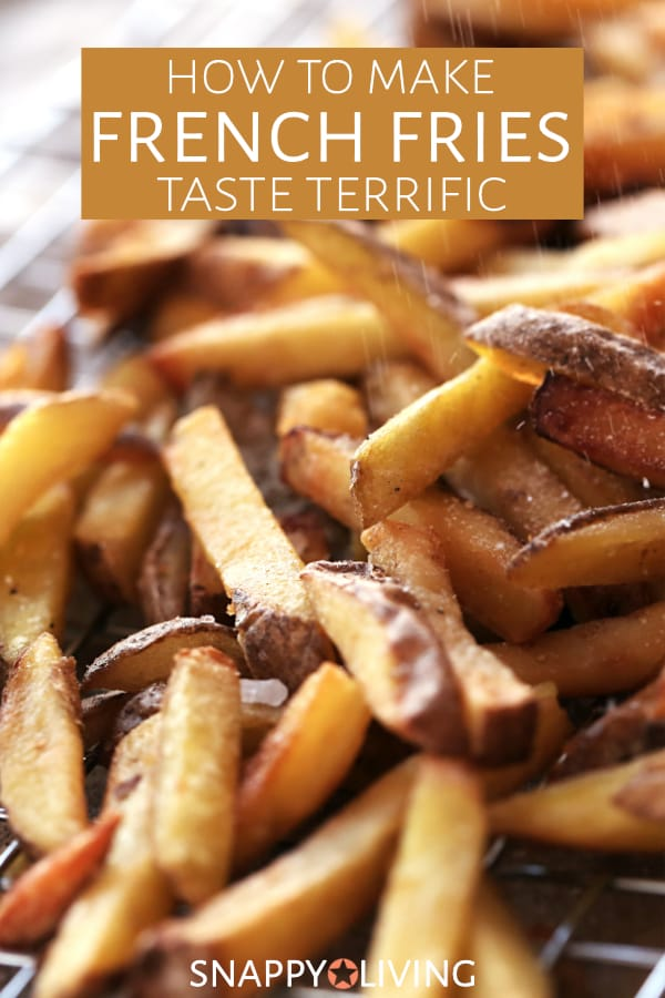 Batch of golden cooked french fries