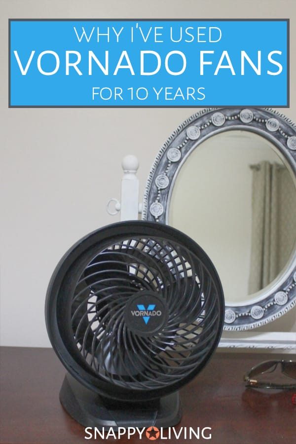 Vornado fan sitting on a dresser