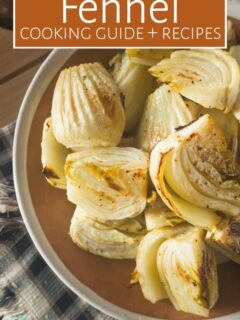 Roasted fennel on plate