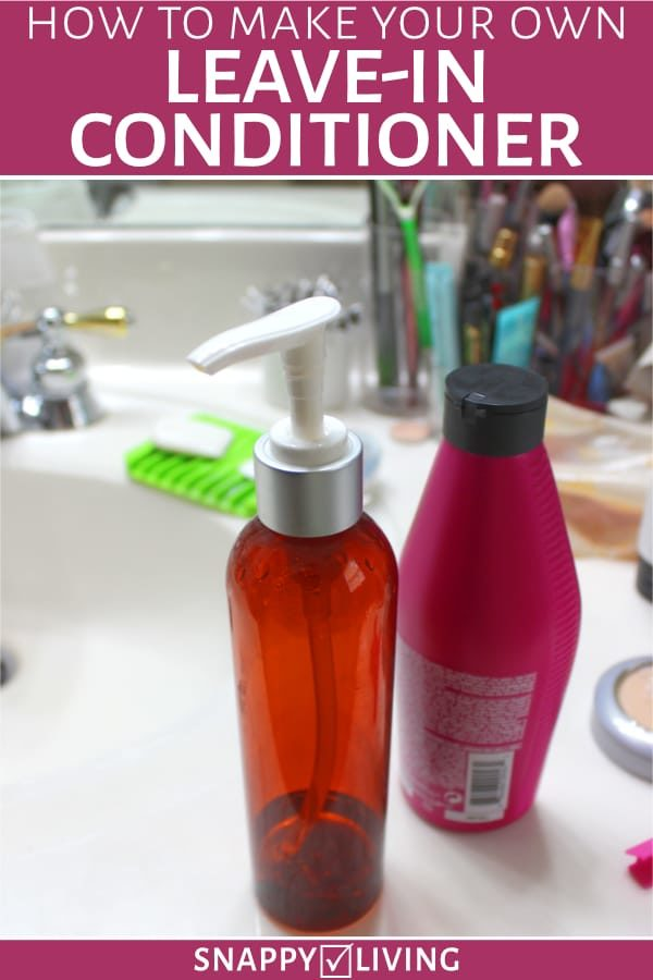 Bottles for making leave-in conditioner