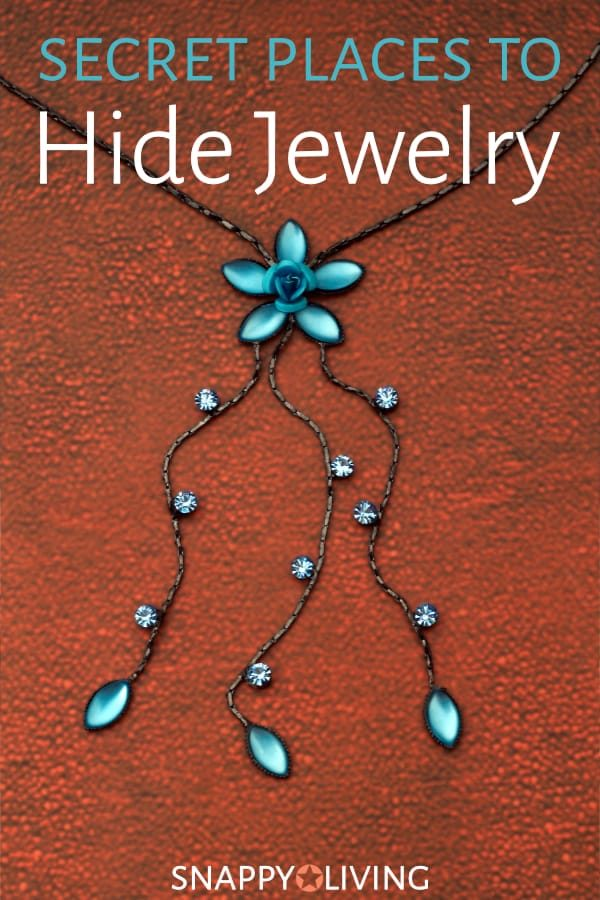 If you're looking for a casual way to hide jewelry without going as far as installing a safe or renting a safety deposit box, check out these secret places to hide jewelry.