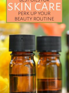 Bottles of oils for skin care