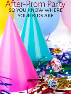 Party hats and confetti