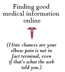 Finding good medical information online