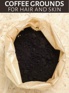 Bag of coffee grounds