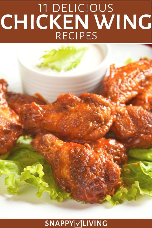 Chicken wings on plate with dip