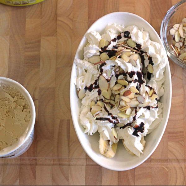 The finished Banana Coffee Ice Cream Sundae Recipe