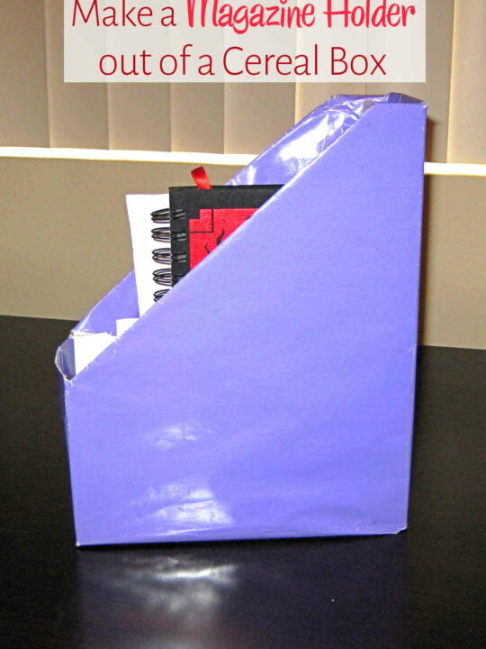 Homemade magazine holder