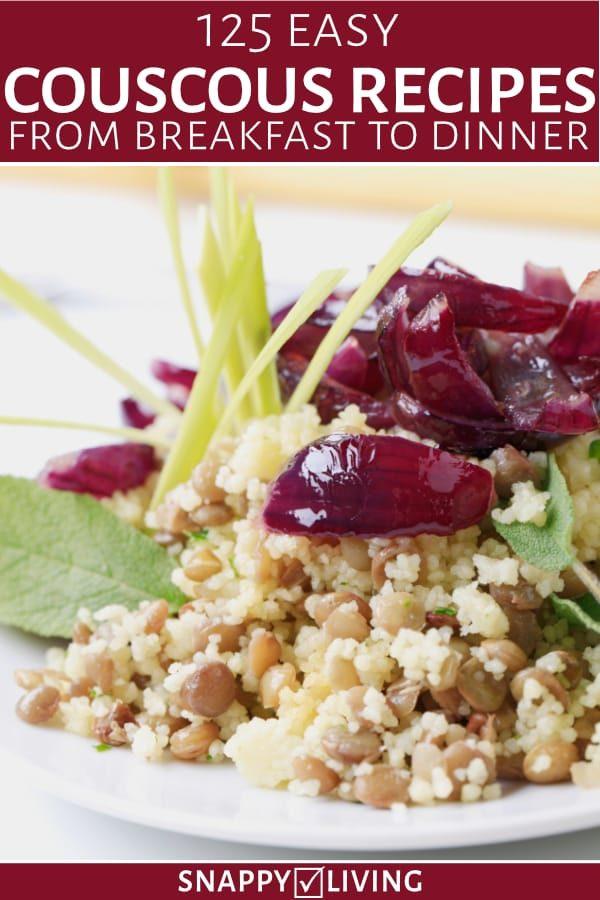 Couscous salad on a dish