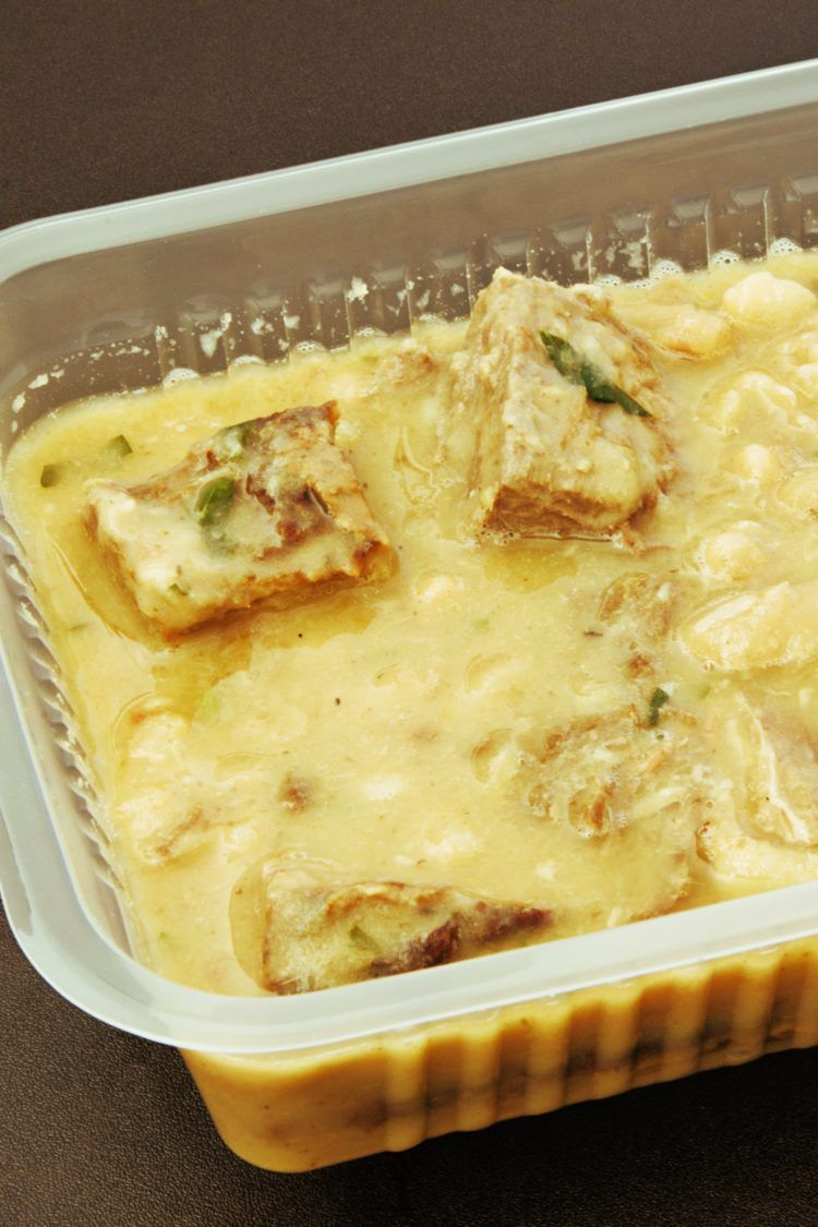 One item make ahead freezer meal in casserole dish