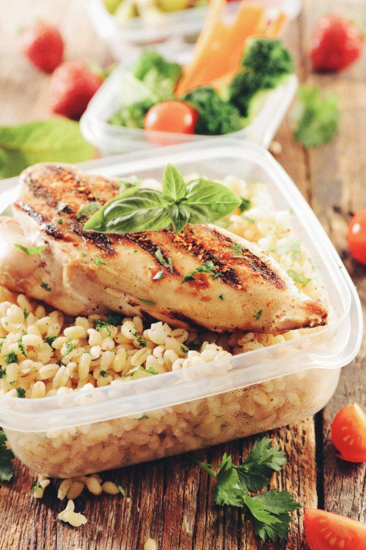 Make ahead freezer meal of chicken and rice