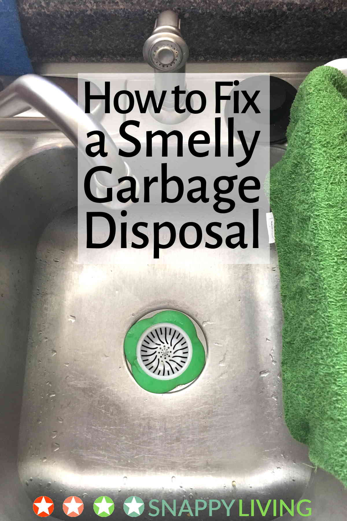 Sink drain above garbage disposal